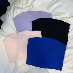 Garage tube tops - in great condition! Purple, blue and baby pink all available!